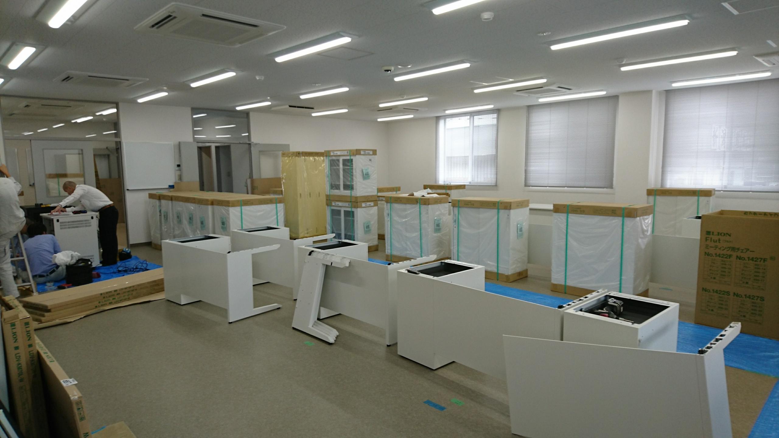 オフィス移転(東京都、大手路線会社様)